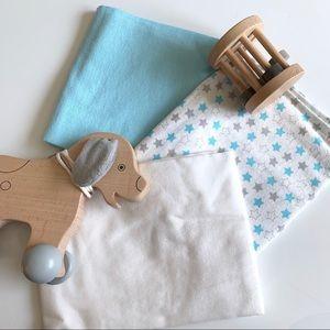 3 NWOT Bon Bébé Baby Blankets